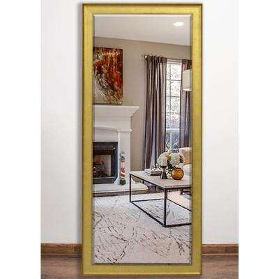 30 in. x 63 in. Vintage Gold Beveled Full Body Mirror