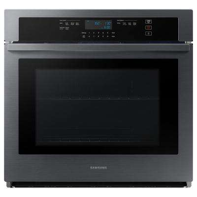 30 in. Single Electric Wall Oven with Self Cleaning in Fingerprint Resistant Black Stainless Steel