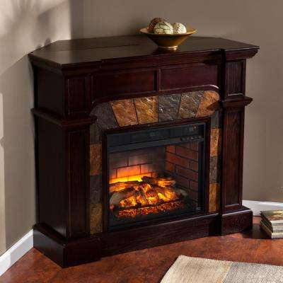 Corner Electric Fireplaces Electric Fireplaces The Home Depot - Stone corner fireplace pictures
