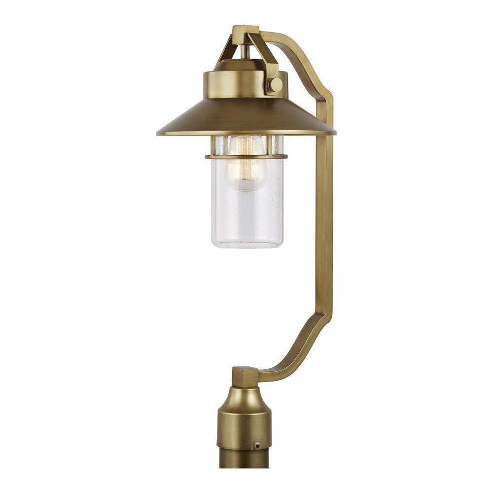 Boynton 1-Light Painted Distressed Brass Outdoor Lamp Post