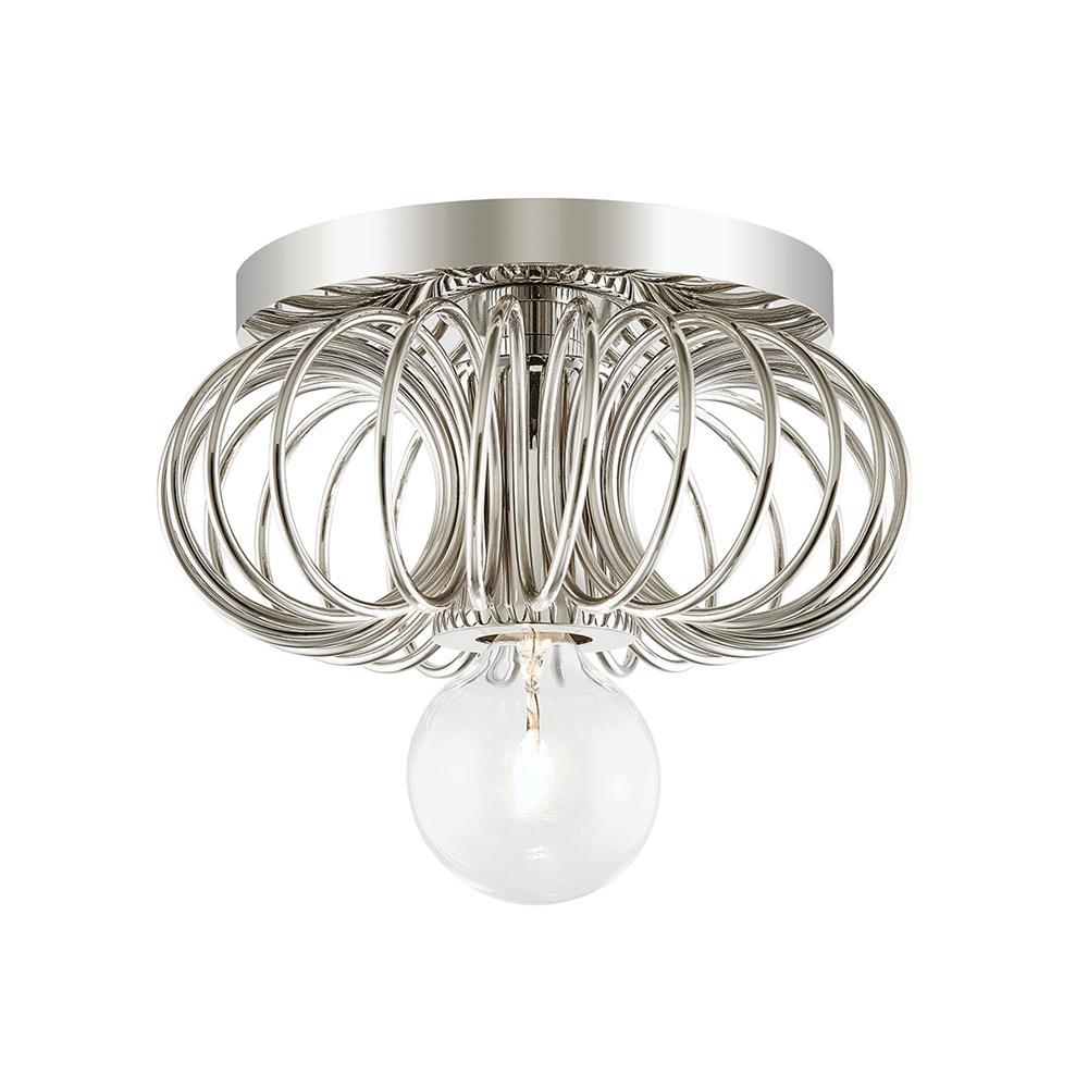 Serena 1-Light Polished Nickel Bath Light