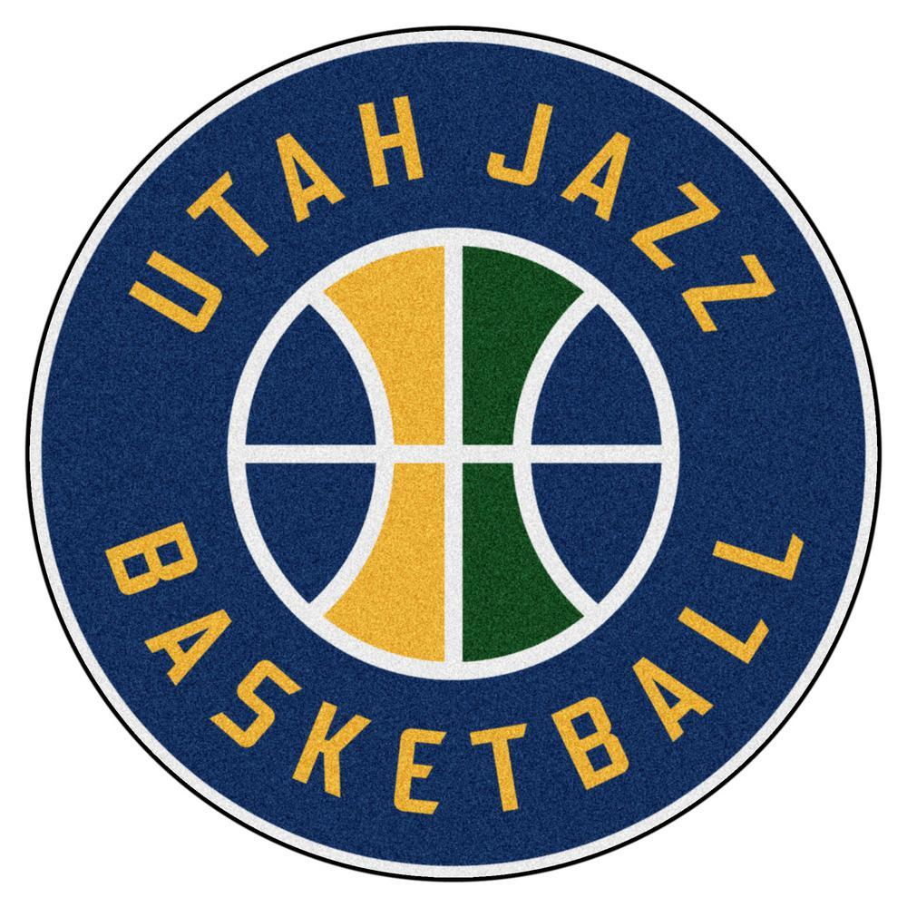 FANMATS NBA Utah Jazz Green 2 ft. x 2 ft. Round Area Rug