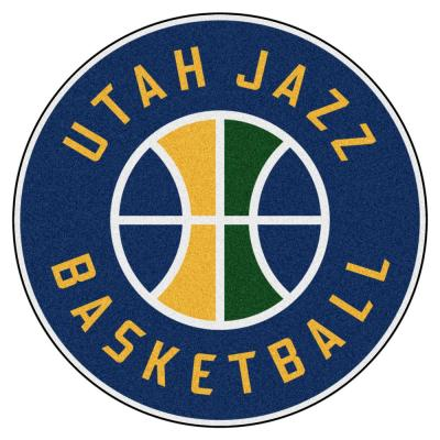 NBA Utah Jazz Green 2 ft. x 2 ft. Round Area Rug