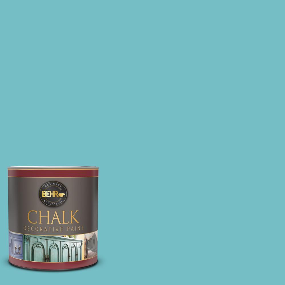 1 qt. #M460-4 Pure Turquoise Interior Chalk Decorative Paint