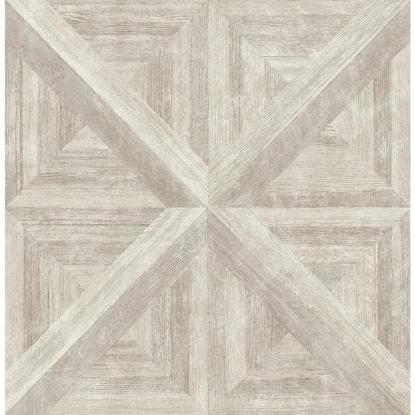 A-Street Carriage House Neutral Wood Wallpaper Sample 2540-24019SAM