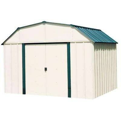 Sheridan 10 ft. x 8 ft. Vinyl-Coated Steel Storage Shed with Floor Kit