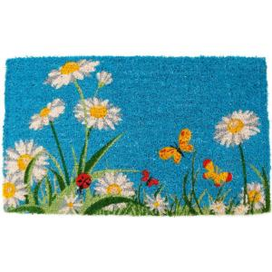Entryways One Summer Day 18 inch x 30 inch Hand Woven Coir Door Mat by Entryways