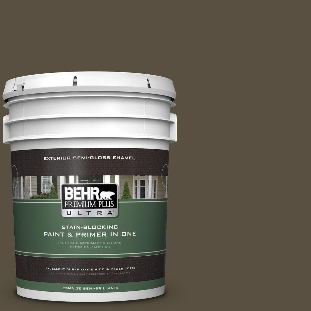 BEHR Premium Plus Ultra 5-gal. #730D-7 Shadow Ridge Semi-Gloss Enamel Exterior Paint