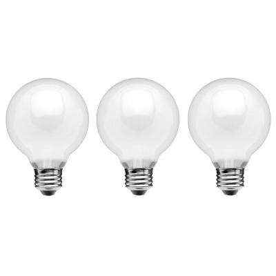 60 watt equivalent g25 dimmable frosted filament led light bulb soft white 3