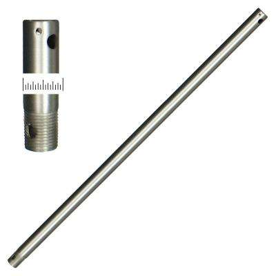 1/2 Dia 24 Satin Steel Extension Downrod