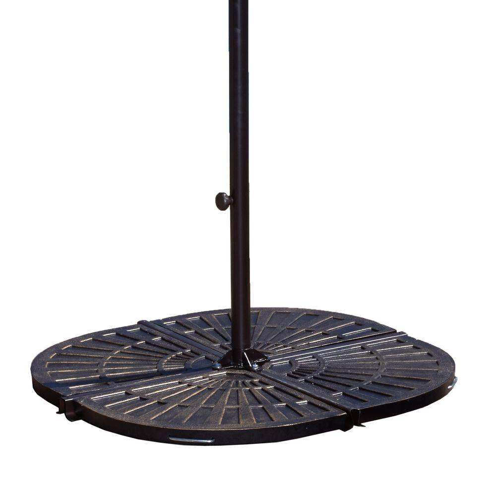 Island Umbrella 30 Lb Resin Patio Umbrella Base Weights In Bronze