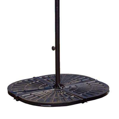 30 lb. Resin Patio Umbrella Base Weights in Bronze (Set of 4)