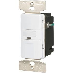 Eaton Motion Activated Vacancy Sensor Wall Switch White