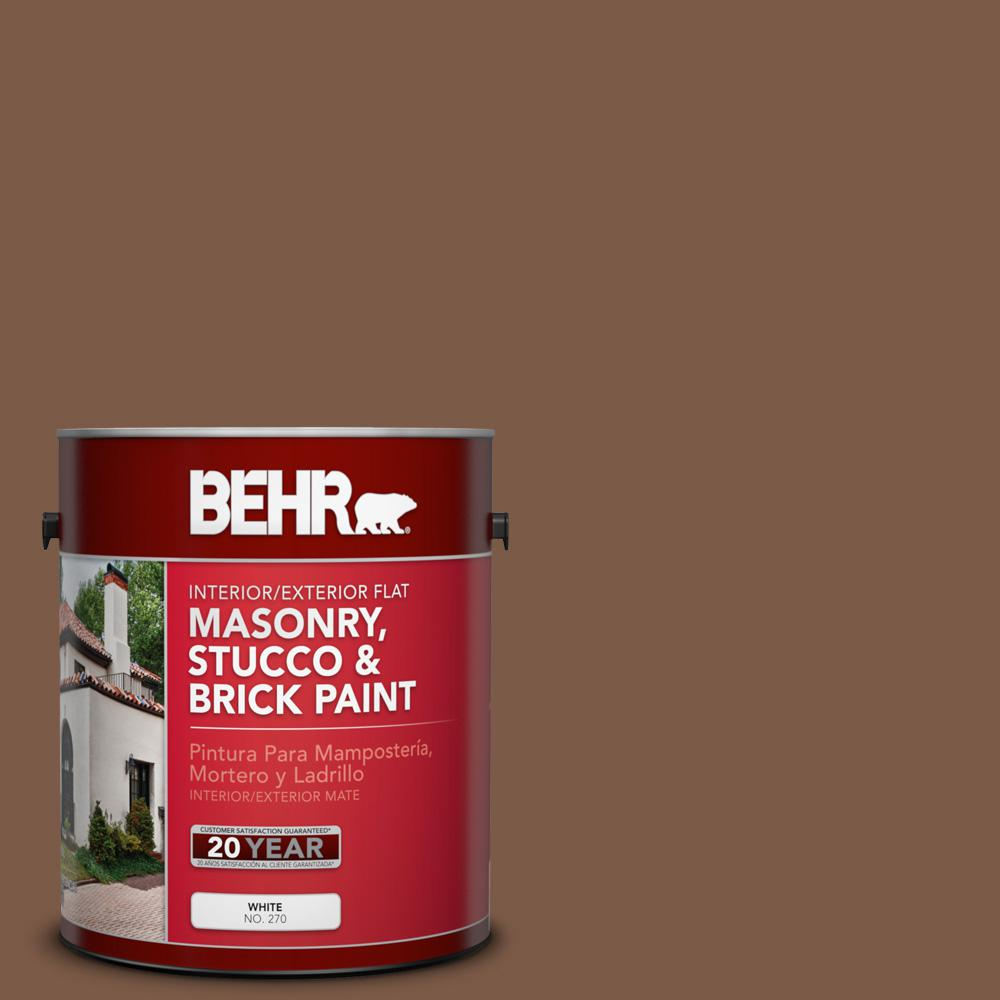 1 gal. #BXC-65 Outback Brown Flat Interior/Exterior Masonry, Stucco and Brick
