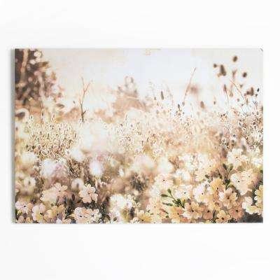 "28 in. x 39 in. ""Layered Meadow Landscape"" Printed Canvas Wall Art"