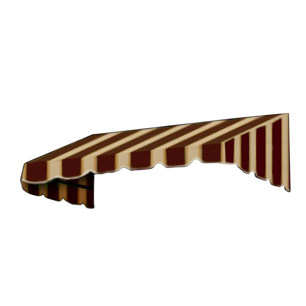 AWNTECH 3 ft. San Francisco Window/Entry Awning Awning (18 in. H x 36 in. D) in Brown/Tan Stripe