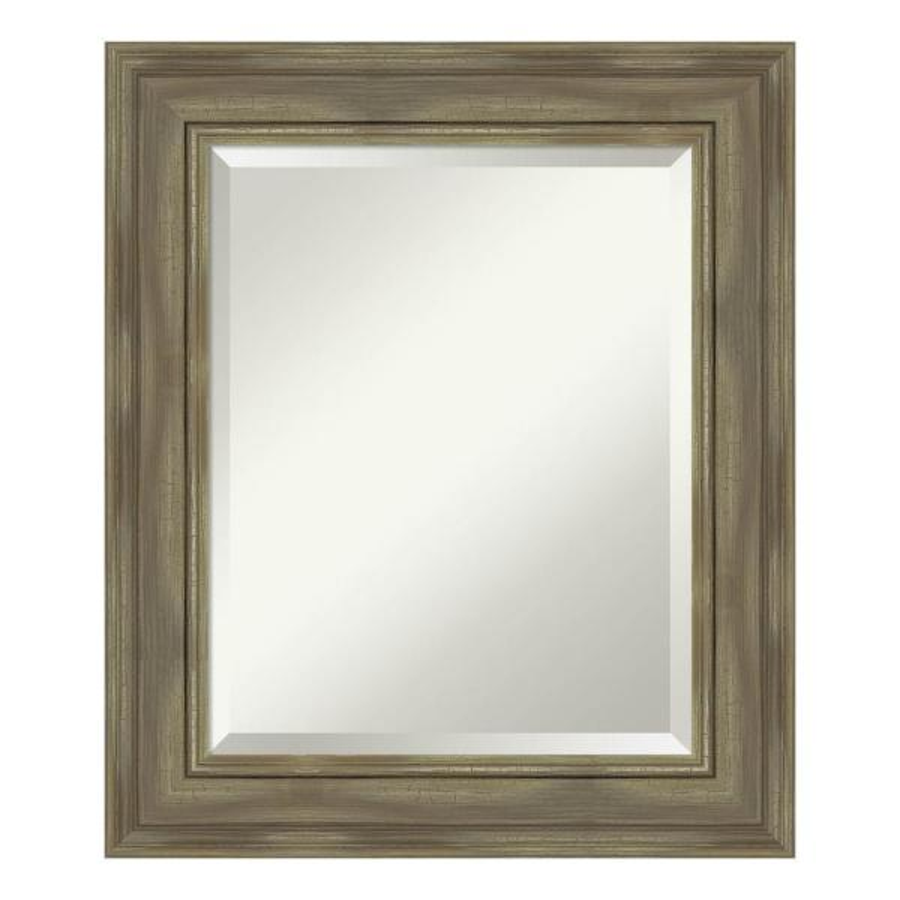 Amanti Art Alexandria Greywash Bathroom Vanity Mirror DSW4094437