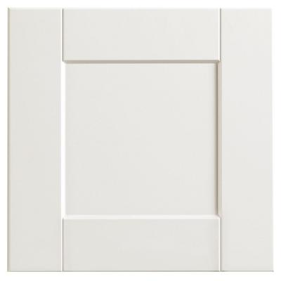 Shaker 12 3/4 x 12 3/4 in. Cabinet Door Sample in Satin White