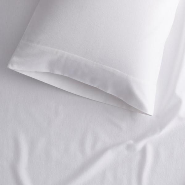 The Company Store Velvet Flannel White Solid Twin Xl Fitted Sheet