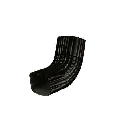 3 in. x 4 in. Black Aluminum Downspout A Elbow