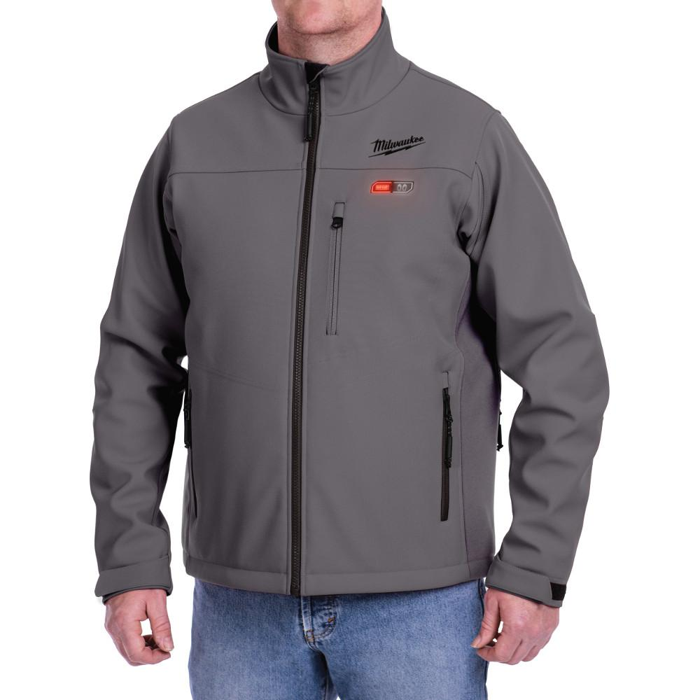 Men's 2X-Large M12 12-Volt Lithium-Ion Cordless Gray Heated Jacket Kit with