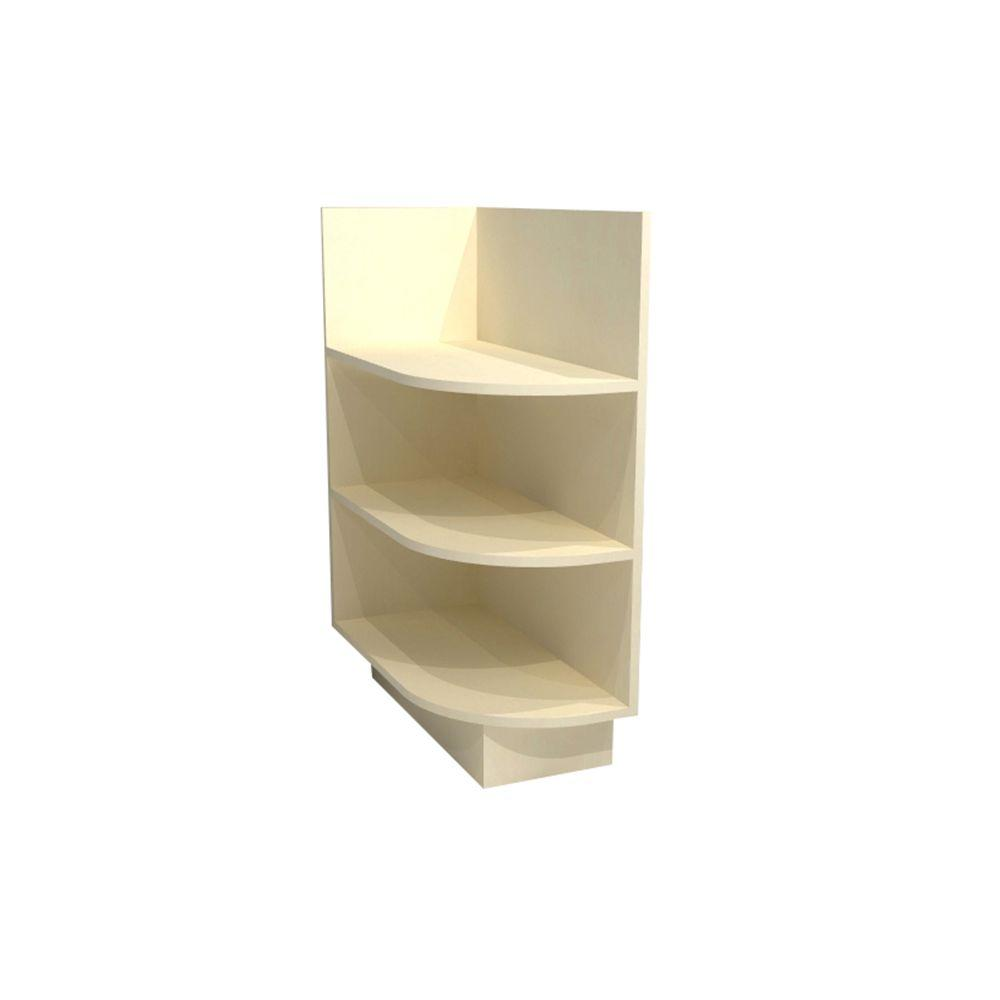 Home Decorators Collection Bronze Glaze Assembled 12x34.5x24 in. Left End Base Kitchen Open Shelf