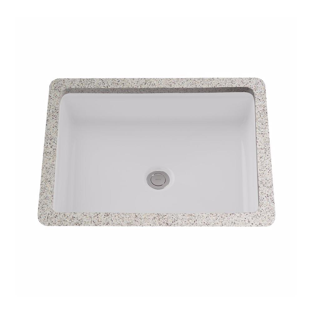Atherton 17 in. Rectangular Undermount Bathroom Sink in Cotton White