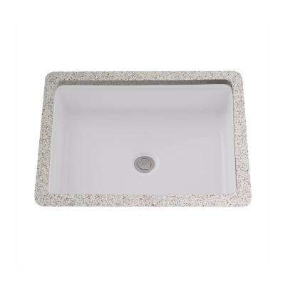 Atherton 17 in. Rectangular Undermount Bathroom Sink in Cotton White