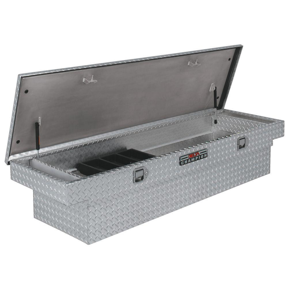 Delta 70 Diamond Plate Aluminum Full Size Crossbed Truck Tool Box - 1-232000