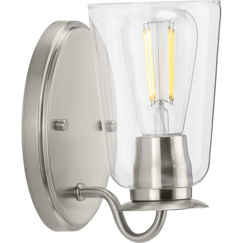 Durrell 1-Light Brushed Nickel Bath Light