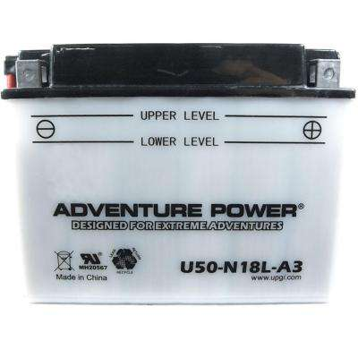 Conventional Wet Pack 12-Volt 20 Ah Capacity D Terminal Battery