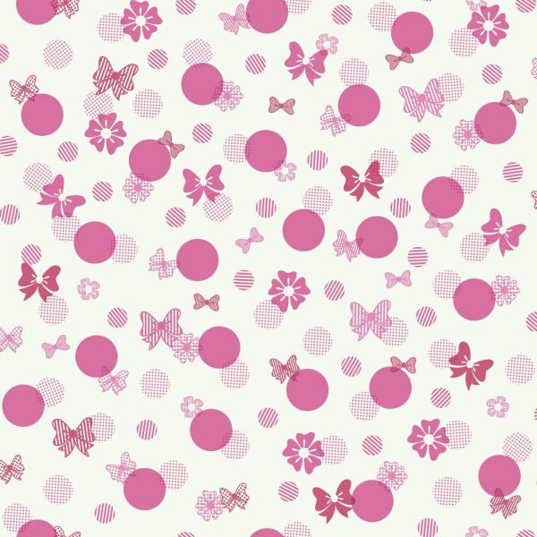 York Wallcoverings Disney Kids III Disney Minnie Mouse Bows and Dots Wallpaper