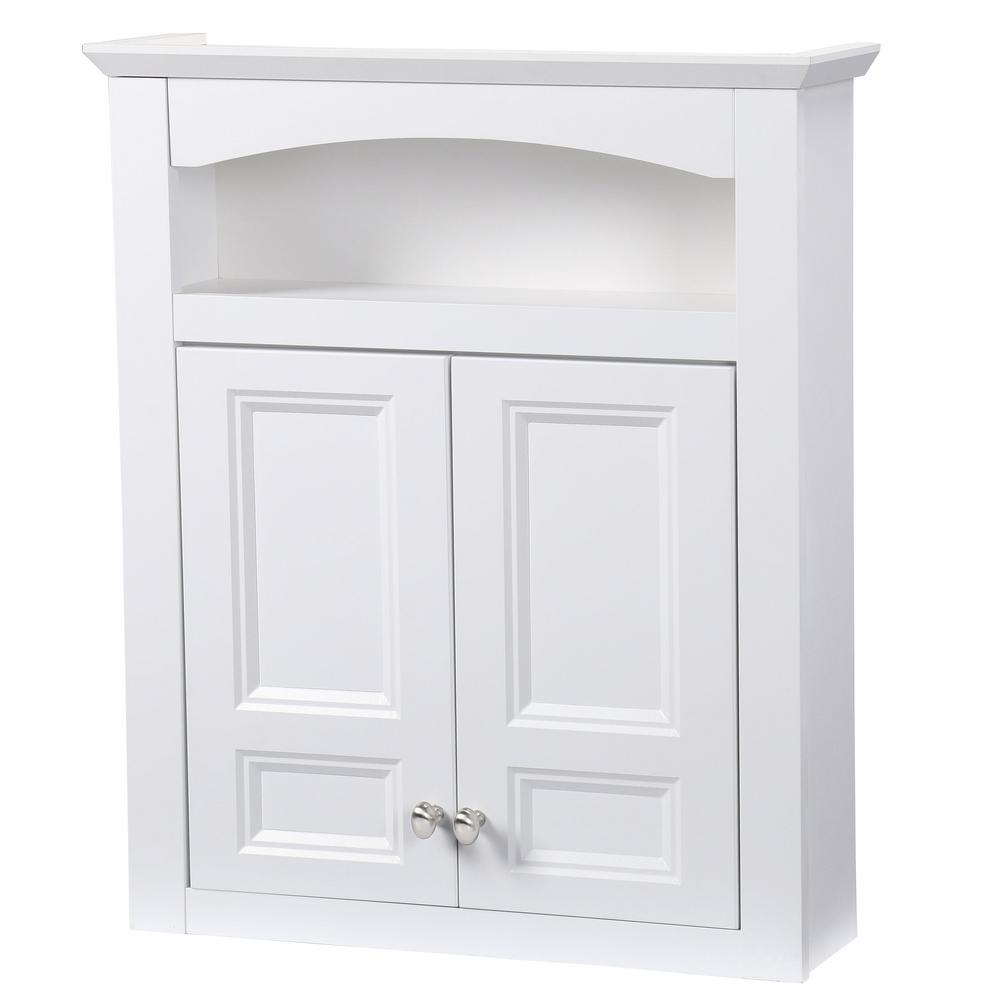White - Glacier Bay - Bathroom Wall Cabinets - Bathroom Cabinets ...