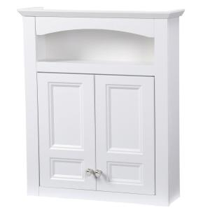 Glacier Bay Modular 24-3/5 inch W x 29 inch H x 6-9/10 inch D Bathroom Storage Wall Cabinet in White by Glacier Bay