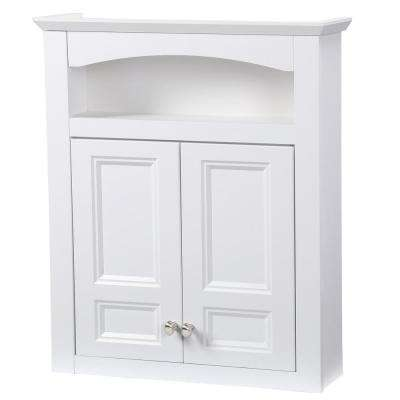 Modular 24-3/5 in. W x 29 in. H x 6-9/10 in. D Bathroom Storage Wall Cabinet in White