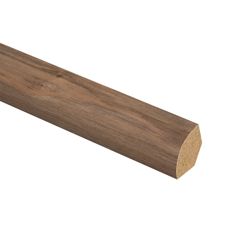Zamma Lakeshore Pecan 5 8 In Thick X 3 4 In Wide X 94 In Length Laminate Quarter Round Molding 013141654 The Home Depot