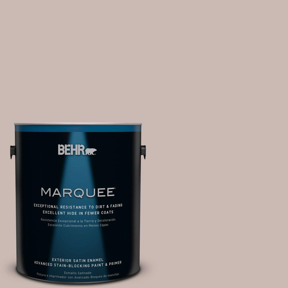 1-gal. #N170-3 Gray Ashlar Satin Enamel Exterior Paint