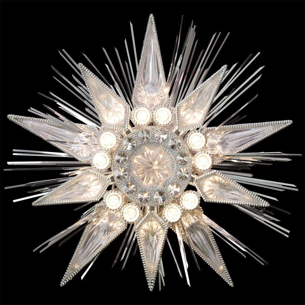 Holiday Classics Silver Jewel Tree Topper