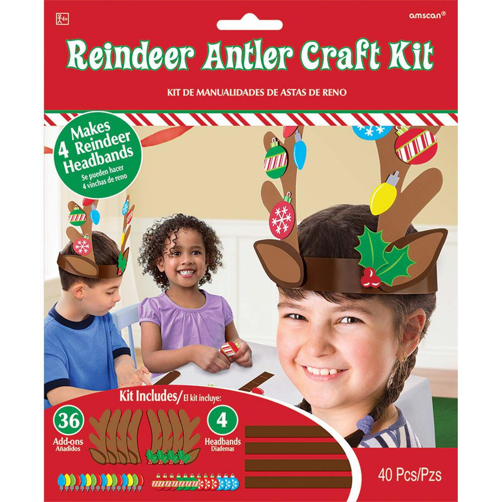 Reindeer Antler Christmas Craft Kit 4 Count 5 Pack