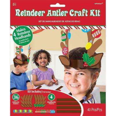 Reindeer Antler Christmas Craft Kit (4-Count 5-Pack)