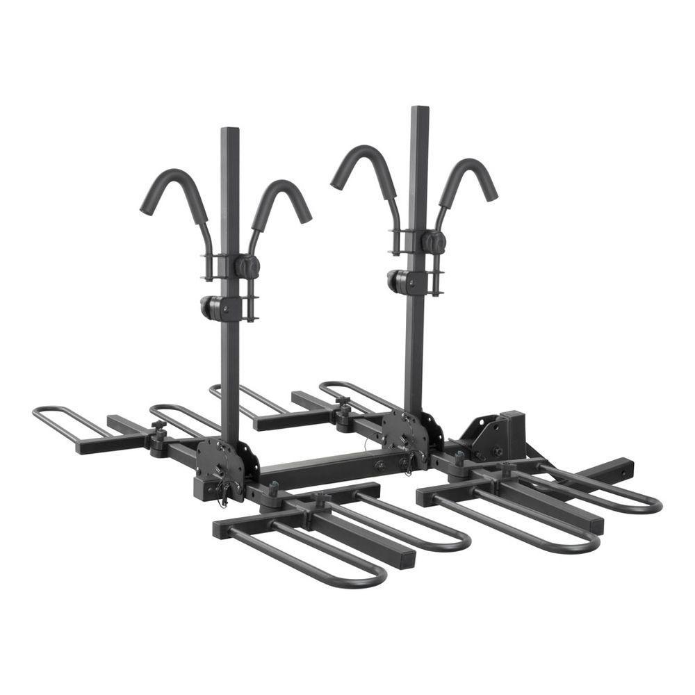 CURT Hitch-Mounted Tray-Style Bike Rack