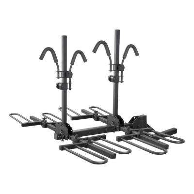 Hitch-Mounted Tray-Style Bike Rack