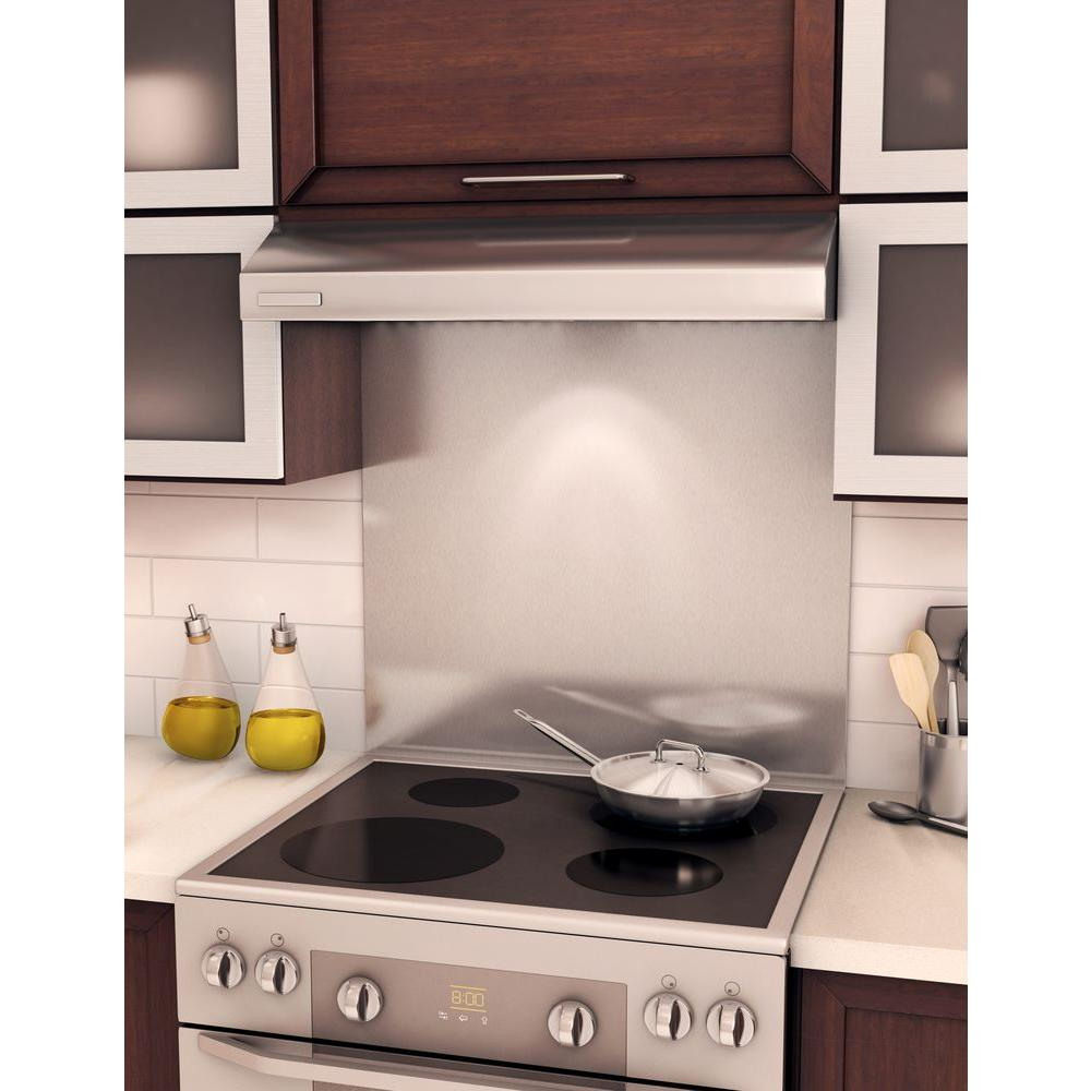 - Inoxia Genesis 30 In. X 31 In. Stainless Steel Backsplash-BSDD-S