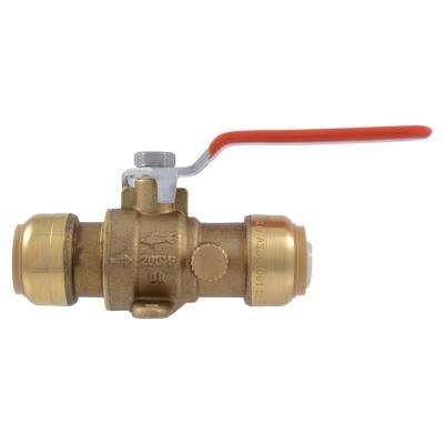 3/4 in. Brass Push-to-Connect Drop Ear Ball Valve with Drain