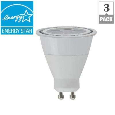 50-Watt Equivalent GU10 Dimmable CEC LED Light Bulb, Bright White (3-Pack)