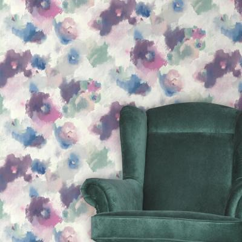 28.18 sq. ft. Impressionist Floral Peel and Stick Wallpaper