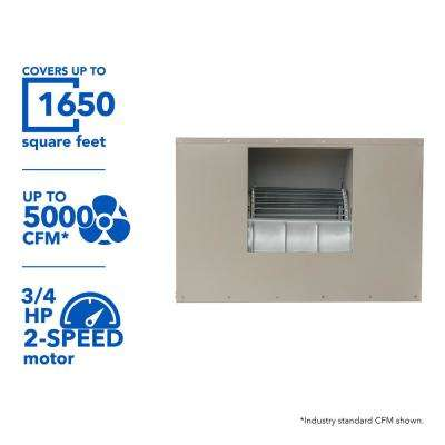 5000 CFM 230-Volt 2-Speed Side-Draft Wall/Roof 8 in. Media Evaporative Cooler for 1650 sq. ft. (with Motor)