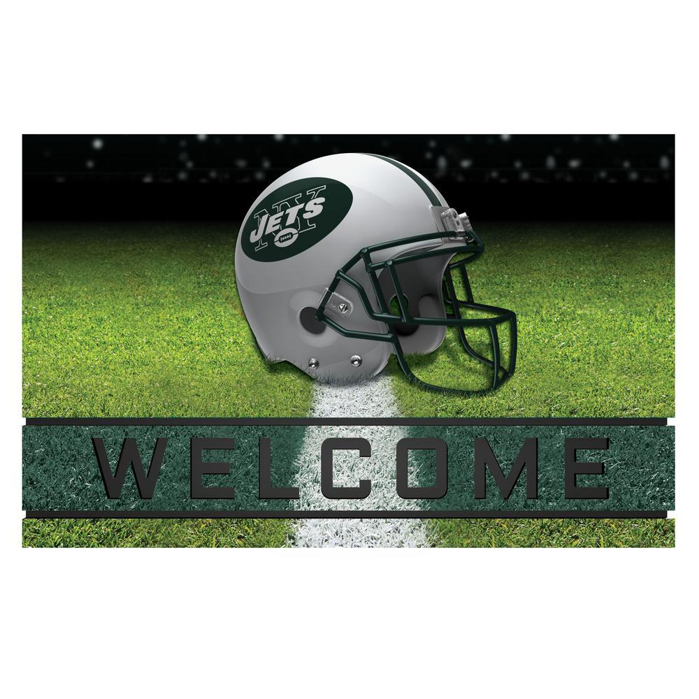 NFL - New York Jets 18 in. x 30 in. Rubber Door Mat