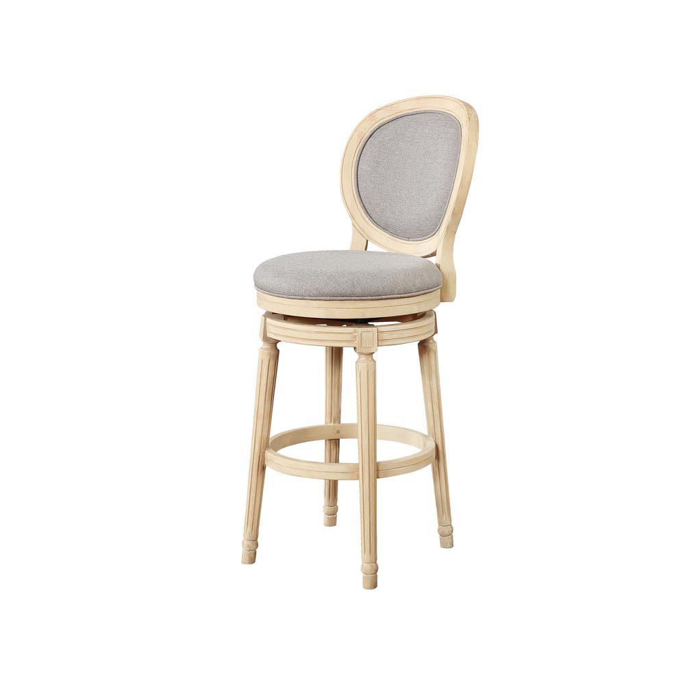 Linon home decor camille cocoa 30 in wood swivel bar stool