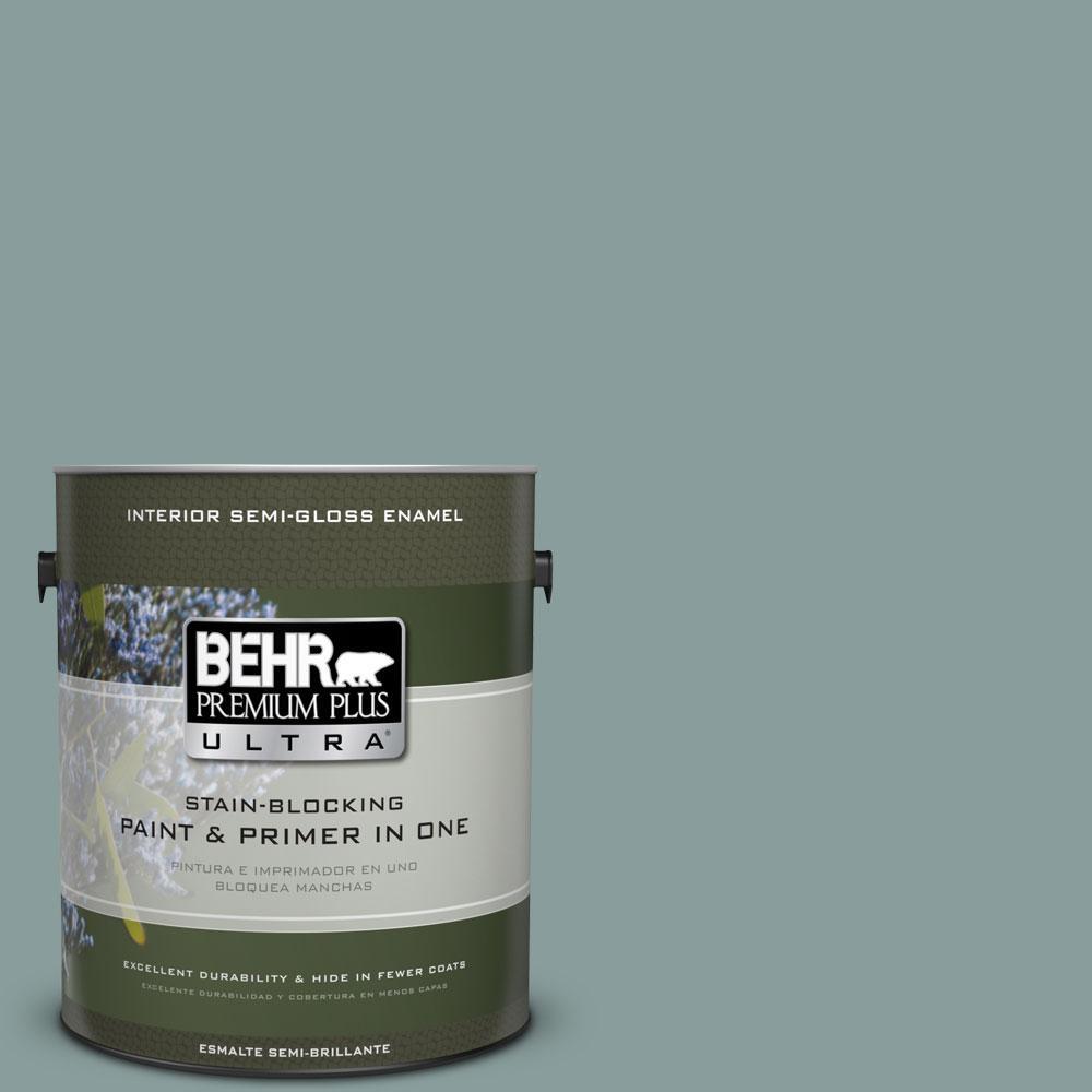 BEHR Premium Plus Ultra 1-gal. #PPU12-4 Agave Semi-Gloss Enamel Interior Paint